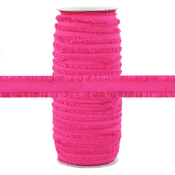 "Fringe Hot Pink 1/2"" Fold Over Elastic 100yd"