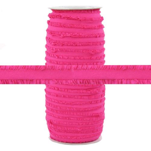 """Fringe Hot Pink 1/2"""" Fold Over Elastic 100yd"""