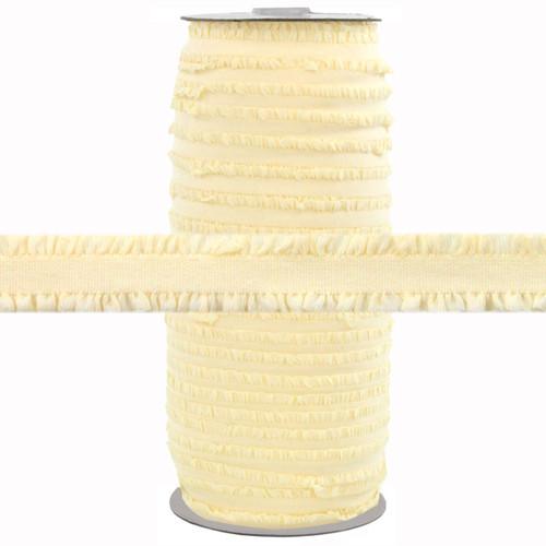 "Fringe Vanilla 1/2"" Fold Over Elastic 100yd"
