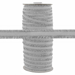 "Fringe Light Gray 1/2"" Fold Over Elastic 100yd"