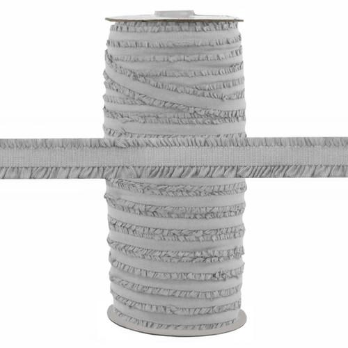 """Fringe Light Gray 1/2"""" Fold Over Elastic 100yd"""