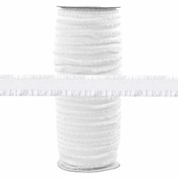 "Fringe White 1/2"" Fold Over Elastic 100yd"