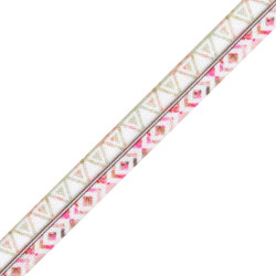 "Pink Geo 5/8"" Fold Over Elastic"