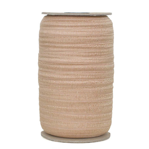 """Old Gold Wholesale 5/8"""" Fold Over Elastic 100yd"""