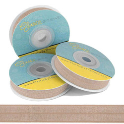 """Old Gold 5/8"""" Fold Over Elastic"""