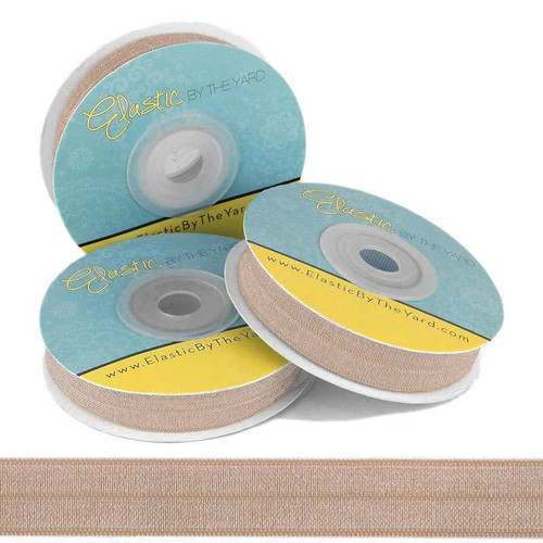 "Old Gold 5/8"" Fold Over Elastic"