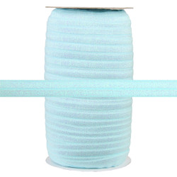 "Lite Blue Fairy Dust 5/8"" Fold Over Elastic 100yd"