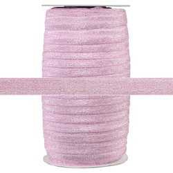 "Pink Fairy Dust 5/8"" Fold Over Elastic 100yd"