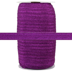 "Wine Fairy Dust 5/8"" Fold Over Elastic 100yd"
