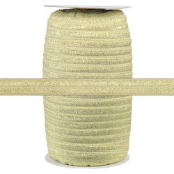 "Ivory Fairy Dust 5/8"" Fold Over Elastic 100yd"