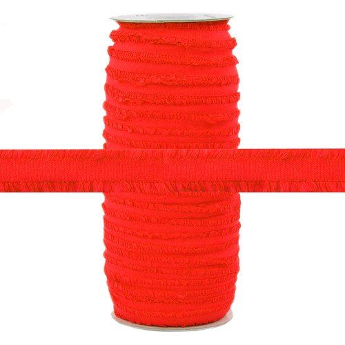 "Fringe Red 1/2"" Decorative Elastic 100yd"