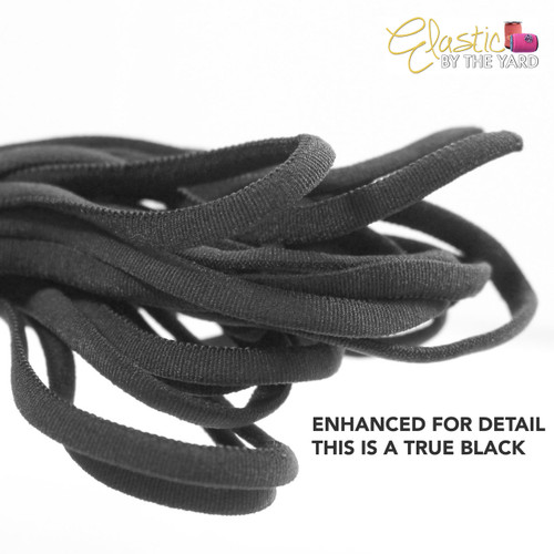 Black Nylon Cord Elastic