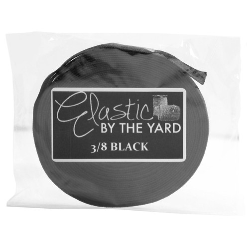 "Black 3/8"" Flat Elastic"