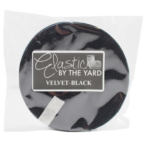 """Black 5/8"""" Flat Velvet Elastic"""