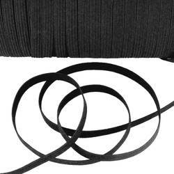 "Black 1/4"" Elastic - Quarter Inch Flat Elastic"