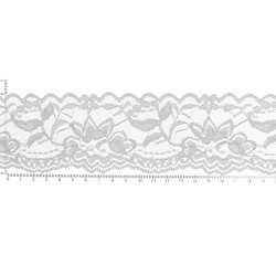 White Garden Lace - 2.25 inch Width - Lace Elastic