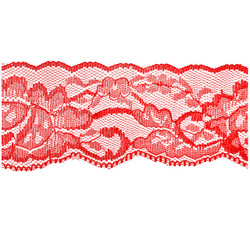 Red Flower Lace - 60mm - Lace Elastic