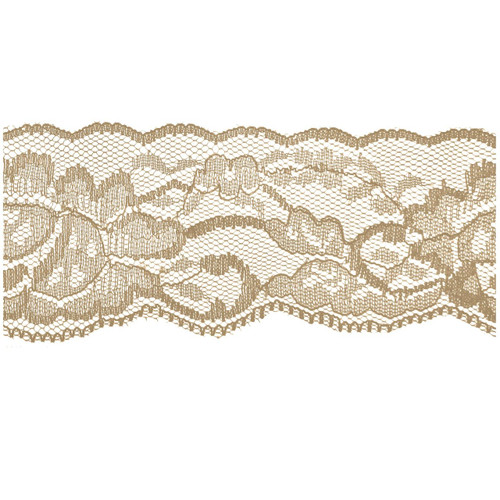 Nude Flower Lace - 2 inch - Lace Elastic