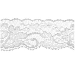 White Flower Lace - 50mm - Lace Elastic