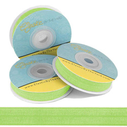 "Apple Green 5/8"" Fold Over Elastic"