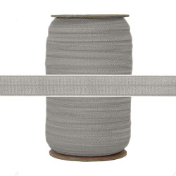 "Medium Gray Pale Slate Wholesale 5/8"" Fold Over Elastic 100yd"
