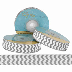 Gray Chevron Fold Over Elastic