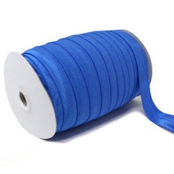 "Sapphire Blue Wholesale 7/8"" - 22mm Fold Over Elastic 100yd"