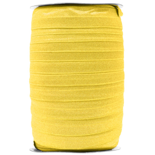 "Daffodil Yellow Wholesale 7/8"" - 22mm Fold Over Elastic 100yd"