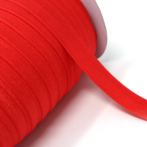"""Red Wholesale 7/8"""" - 22mm Fold Over Elastic 100yd"""