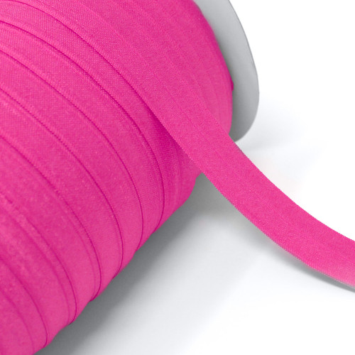 """Neon Pink Wholesale 7/8"""" - 22mm Fold Over Elastic 100yd"""
