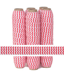 Red Chevron Fold Over Elastic