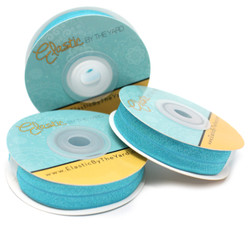 "Blue Sea 5/8"" Fold Over Elastic"