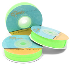 "Bright Green 5/8"" Fold Over Elastic"