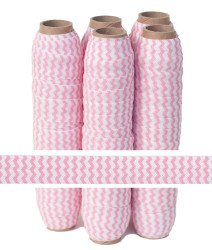Baby Pink Chevron Fold Over Elastic