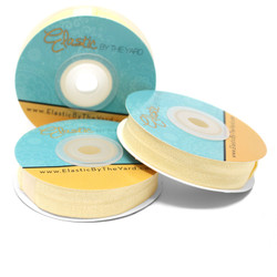 "Cream 5/8"" Fold Over Elastic"