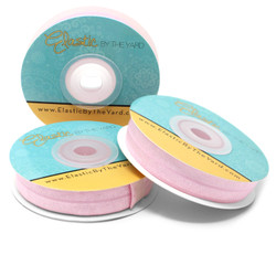 "Pink Lady 5/8"" Fold Over Elastic"