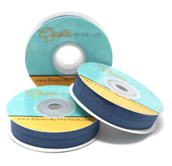 "Navy Smoke 5/8"" Fold Over Elastic"