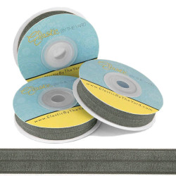 "Steel Gray 5/8"" Fold Over Elastic"