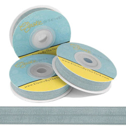 "Angel Blue 5/8"" Fold Over Elastic"