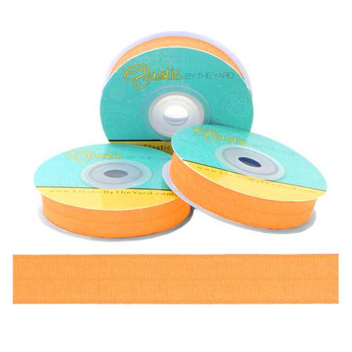 """Sun Kist Orange 5/8"""" Fold Over Elastic - 5 Yards"""