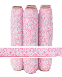 Pink Damask Printed FOE