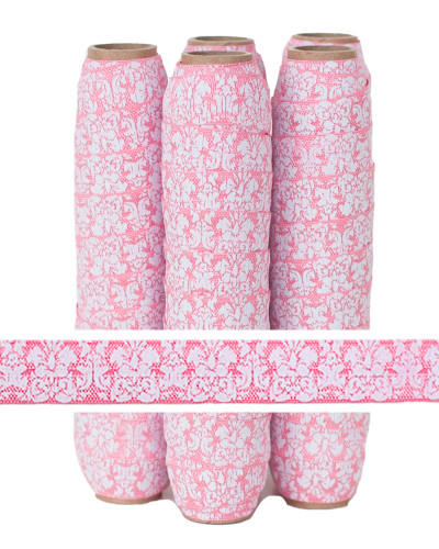 Pink Damask Printed FOE