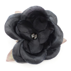 Jessica  Black on Black Silk Flower