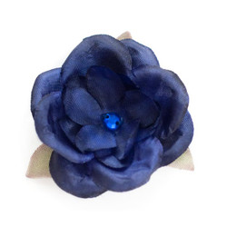 Jessica  Navy Silk Flower
