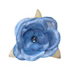 Jessica  Antique Blue Silk Flower