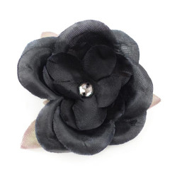 Jessica Black Clear Silk Flower