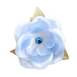 Jessica  Pale Blue Silk Flower