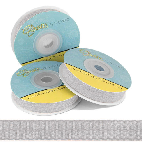 Silver Fold Over Elastic
