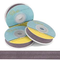Smokey Gray Fold Over Elastic
