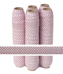 Pink with Small Brown Dots Fold Over Elastic